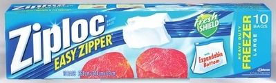 ZIPLOC BAGS OR CONTAINERS, WINDEX, FANTASTIK OR SCRUBBING BUBBLES CLEANERS