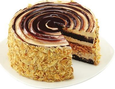 FRONT STREET BAKERY JAMOCHA ALMOND CRUNCH CAKE