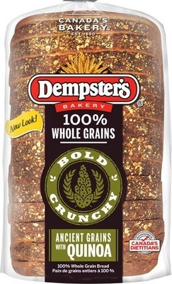 DEMPSTER'S GRAIN BREADS, BAGELS, PULL APARTS, VILLAGGIO BUNS OR BREAD