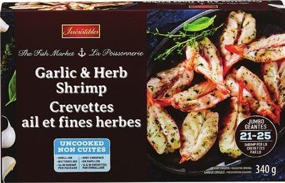 IRRESISTIBLES HERB & GARLIC SHRIMP 340 g or CRAB CAKES 227 g