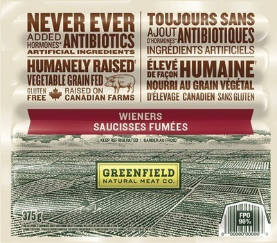 GREENFIELD WIENERS OR SMOKED SAUSAGES
