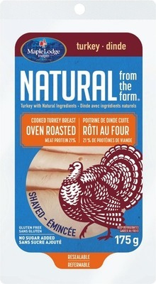 MAPLE LODGE NATURAL SHAVED TURKEY OR CHICKEN BREAST
