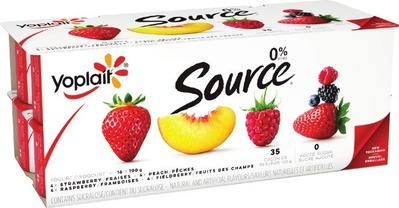 YOPLAIT SOURCE 16 X 90 - 100 G, LIBERTÉ GREEK YOGURT 750 G OR YOP DRINKABLE YOGURT 6 X 200 ml