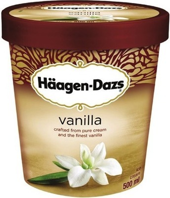 HÄAGEN-DAZS ICE CREAM, FROZEN DESSERT OR NOVELTIES