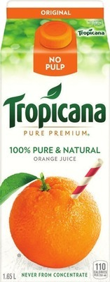 TROPICANA 6 X 236 ML, 1.54 - 1.75 L IRRESISTIBLES REFRIGERATED JUICE 2.5 L