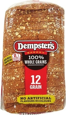 "DEMPSTER'S WHOLE GRAIN OR RYE BREADS OR GRAINHOUSE BREADS, 7"" TORTILLAS OR PULL-APART BUNS"