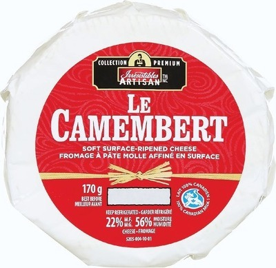 IRRESISTIBLES ARTISAN CAMEMBERT OR BRIE CHEESE