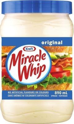 KRAFT MIRACLE WHIP, HEINZ KETCHUP OR AIOLI SAUCE
