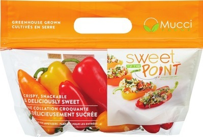 MINI SWEET PEPPERS 227 G PRODUCT OF ONTARIO SLICER BEEFSTEAK TOMATOES 2 PK PRODUCT OF ONTARIO