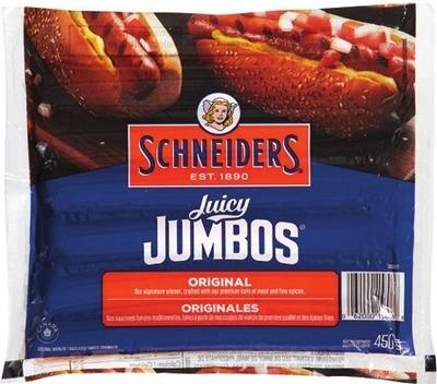 SCHNEIDERS JUICY JUMBOS OR SMOKED SAUSAGES