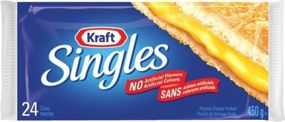 KRAFT SINGLES 450 G CRACKER BARREL SLICED OR SNACK CHEESE 168 - 240 G