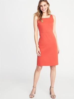 8088649c501 Ponte-Knit Square-Neck Sheath Dress for Women - Flipp