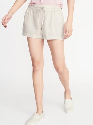 9d2f46b82b Mid-Rise Linen-Blend Shorts for Women - 4-inch inseam - Flipp