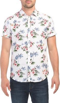 bb124c25 DENIM & FLOWER Short Sleeve Multicolor Floral Print Shirt - Flipp
