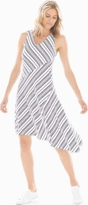 6f96efaf53 Soft Jersey Asymmetrical Hem Midi Dress Amity Stripe White - Flipp