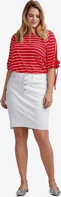 cad64361ca Raw High-Low Hem Denim Skirt by ellos® - Flipp