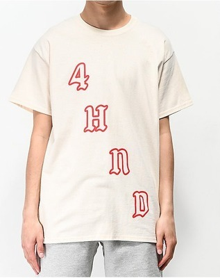 f058c1171 4Hunnid Team Cream T-Shirt - Flipp