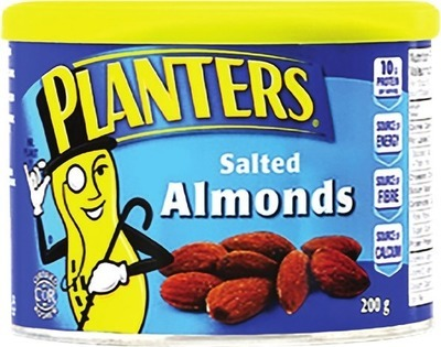 PLANTERS ALMONDS, CASHEWS OR MIXED NUTS 200 G OR PEANUTS 600 G
