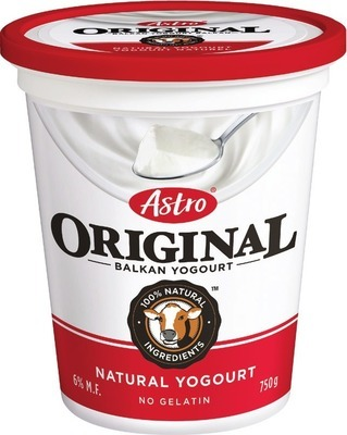ASTRO TUBS 650 - 750 G OR DANONE YOGURT 4 X 100 G