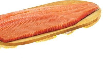FRESH CANADIAN ATLANTIC SALMON FILLETS FAMILY PACK MIN. 900 G 9.99/LB, 2.21/100 G DOM INT'L SMOKED SALMON FROZEN