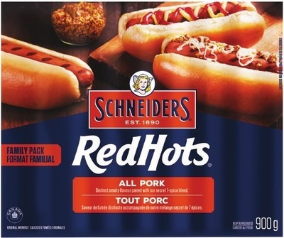 SCHNEIDERS RED HOTS WIENERS