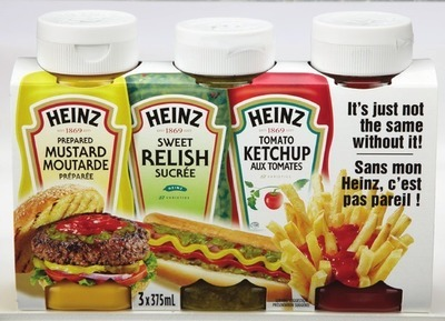 HEINZ CONDIMENT TRIO PACK