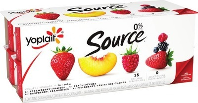 LIBERTÉ GREEK 750 G OR YOPLAIT SOURCE YOGURT 16 X 90 - 100 G