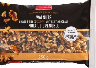 IRRESISTIBLES WALNUT HALVES AND PIECES 250 G, WHOLE NATURAL ALMONDS 250 G
