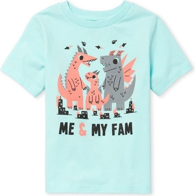 f6c1bf97d2dc2 Baby And Toddler Boys Short Sleeve 'Me And My Fam' Dino Graphic Tee ...