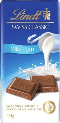 LINDT SWISS CLASSIC CHOCOLATE BAR