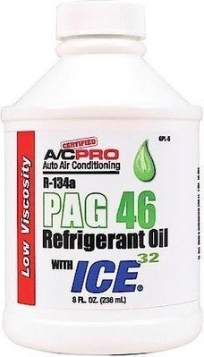 Certified A/C Pro R-134a PAG 46 Refrigerant Oil With ICE 32