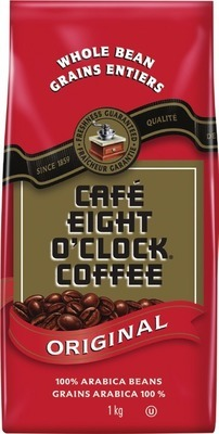 EIGHT O'CLOCK BEAN COFFEE 900 G - 1 KG, FOLGERS GROUND COFFEE 642 - 975 G OR NABOB K-CUP COFFEE CAPSULES 12 UN.