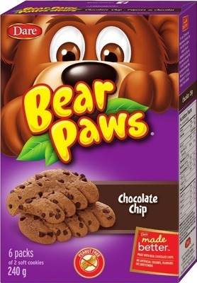 DARE BEAR PAWS 150 - 240 G OR VIVA PUFFS COOKIES 300 G OR GRISSOL BREAD SNACKS 120 - 130 G