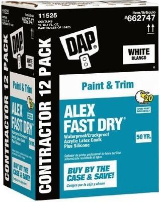 Get DAP® 12-Pack 10 1-floz ALEX FAST DRY® White Paintable