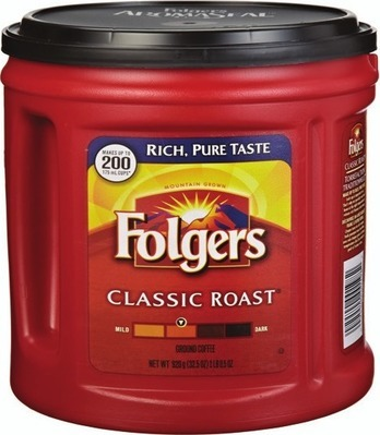 FOLGERS GROUND COFFEE 642 - 975 G, VAN HOUTTE OR FOLGERS K-CUP COFFEE CAPSULES 10 - 12 UN.