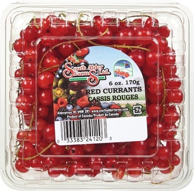 BLACK OR RED CURRANTS 170 G, PRODUCT OF CANADA GOOSEBERRIES 170 G, PRODUCT OF CANADA