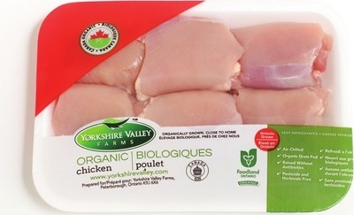 YORKSHIRE VALLEY FARMS ORGANIC FRESH CHICKEN THIGHS