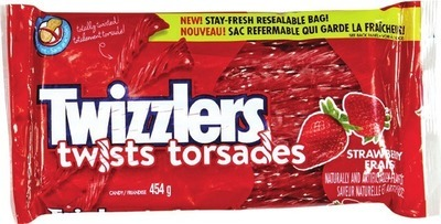 HERSHEY'S TWIZZLERS OR NIBS LICORICE