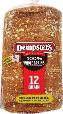 DEMPSTER'S WHOLE GRAIN BREADS, VILLAGGIO BREAD OR BUNS OR COUNTRY HARVEST BAGELS