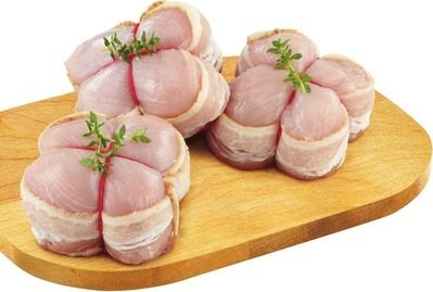 BACON WRAPPED CHICKEN BREAST MEDALLIONS