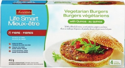 IRRESISTIBLES LIFE SMART VEGETARIAN BURGERS WITH QUINOA