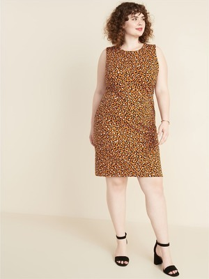 Get Secret-Slim Plus-Size Sleeveless Ponte-Knit Sheath Dress for ...