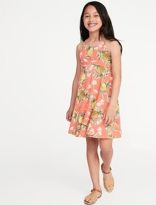 5d394b9e39cf7 Get Printed Jersey Fit & Flare Cami Dress for Girls for $10.0 in ...