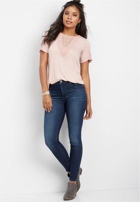 3b3eab9aa Get Everflex™ High Rise Dark Stretch Skinny Jeans with $49.0 in ...