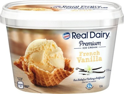 NESTLÉ REAL DAIRY ICE CREAM, FROZEN DESSERT, NOVELTIES OR IRRESISTIBLES ICE CREAM