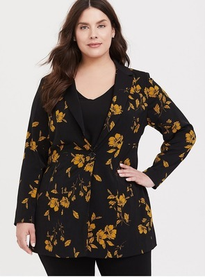 4f8039920 Get Black & Yellow Floral Longline Blazer for $55.23 in Creede | Flipp