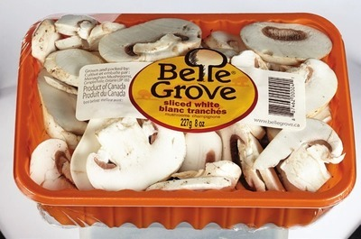 BELLE GROVE SLICED WHITE OR SLICED CRIMINI MUSHROOMS