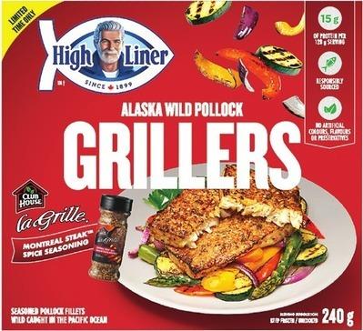 HIGH LINER IQF FILLETS 400 G OR GRILLERS 240 G
