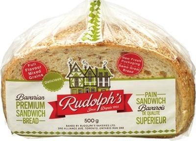 RUDOLPH'S BAVARIAN MULTIGRAIN OR PREMIUM SANDWICH BREAD