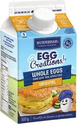 BURNBRAE EGG CREATIONS! OR NATUREGG EGG WHITES